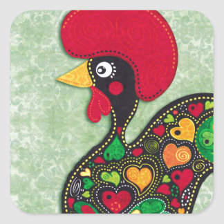 Rooster of Portugal Square Sticker