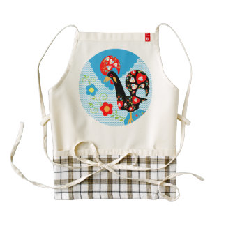 Rooster of Portugal Zazzle HEART Apron