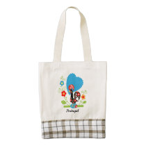 Rooster of Portugal Zazzle HEART Tote Bag