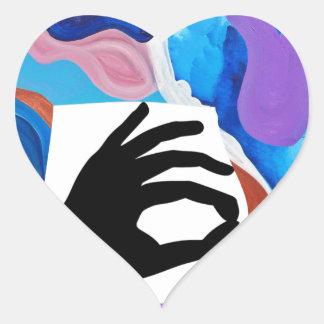 Rooster OK Heart Sticker