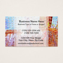 rooster on dock abstract swirls business card