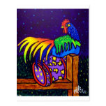 Rooster on Fence by Piliero Postcards