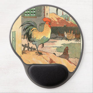 Rooster on the Farm Gel Mouse Pad