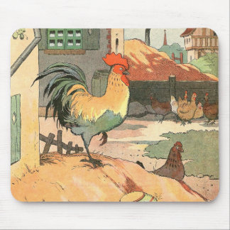 Rooster on the Farm Illustrated Mouse Pad