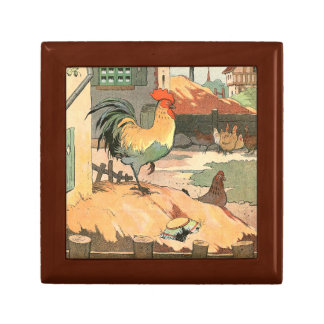 Rooster on the Farm Jewelry Box