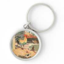 Rooster on the Farm Keychain
