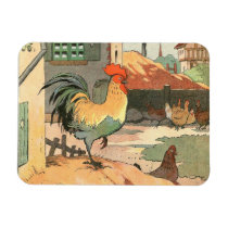 Rooster on the Farm Magnet