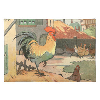 Rooster on the Farm Place Mats