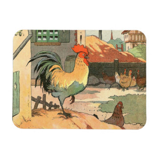 Rooster on the Farm Rectangular Magnet