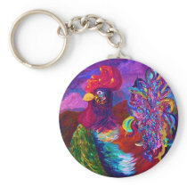 Rooster on the Horizon Keychain
