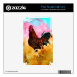 Rooster On the Run iPod Touch 4G Decal