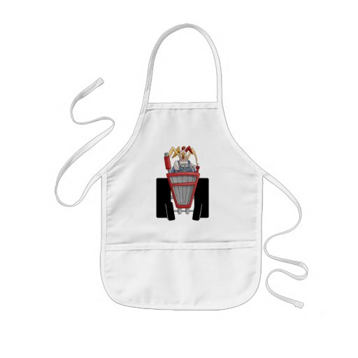 Rooster On Tractor Aprons