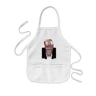 Rooster On Tractor Kids' Apron