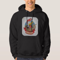 ROOSTER OR CHICKEN DESIGN HOODIE