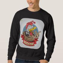 ROOSTER OR CHICKEN DESIGN SWEATSHIRT