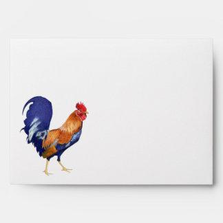 Rooster orange inside A7 Card Envelope