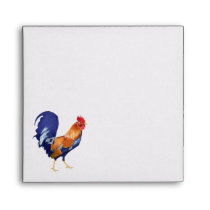 Rooster orange inside Square Invitation Envelope