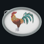 "ROOSTER OVAL BELT BUCKLE<br><div class=""desc"">A colorful rooster for your buckle.</div>"