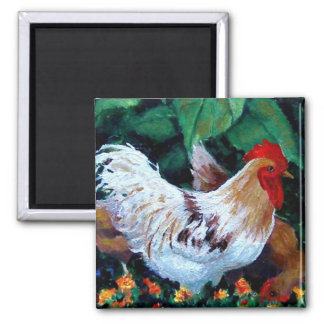 ROOSTER PAINTING MAGNET
