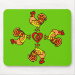 Rooster Pinwheel Mouse Pad