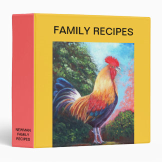 Rooster Recipes Binder
