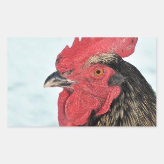 Rooster Rectangular Sticker