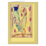 Rooster Roses graduation announcement Greeting Card