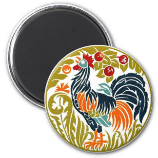 Rooster Round Magnet