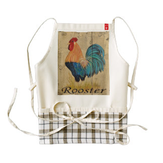 Rooster Shabby Cottage French Country Apron