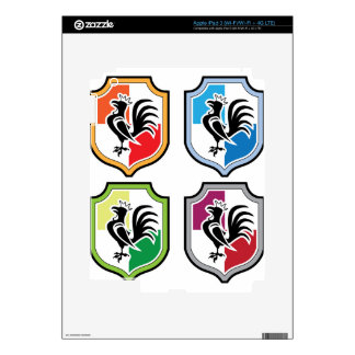 Rooster Shield Logo Skin For iPad 3
