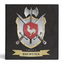 Rooster Sigil Battle Crest Black Binder