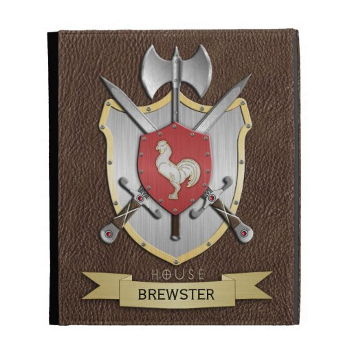 Rooster Sigil Battle Crest Brown iPad Cases