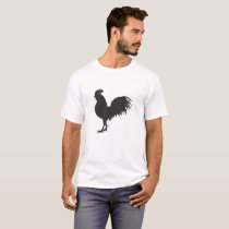 Rooster  silhouette  - Choose background color T-Shirt