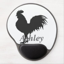 Rooster  silhouette gel mouse pad