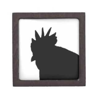 Rooster Silhouette Gift Box