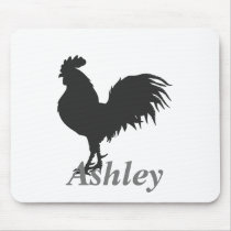 Rooster  silhouette mouse pad