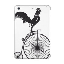 Rooster Silhouette On Vintage Bike iPad Mini Case