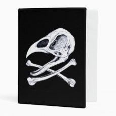 Rooster Skull and Crossbones Mini Binder