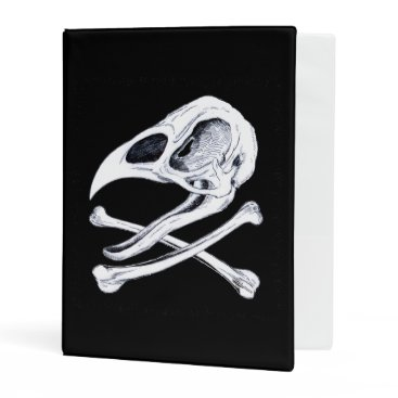 Halloween Themed Rooster Skull and Crossbones Mini Binder