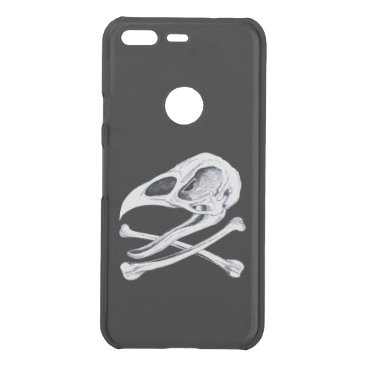 Halloween Themed Rooster Skull and Crossbones Uncommon Google Pixel Case