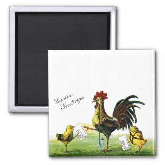 Rooster Smoking Hookah Vintage Easter Magnet