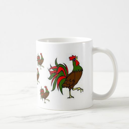 Rooster Strut Classic White Coffee Mug