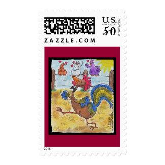 Rooster Strut Postage