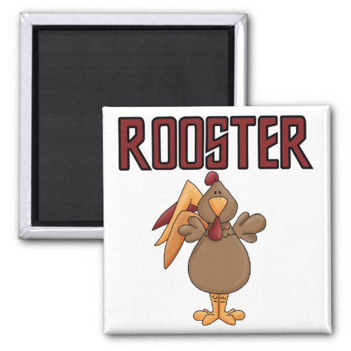 Rooster T-shirts and Gifts 2 Inch Square Magnet