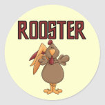 Rooster T-shirts and Gifts Classic Round Sticker