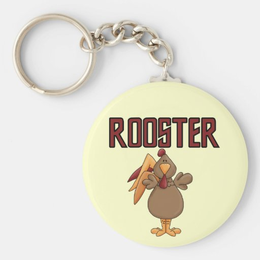 Rooster T-shirts and Gifts Basic Round Button Keychain