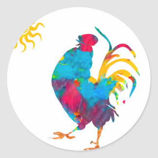 Rooster the King of the BarnYard Classic Round Sticker