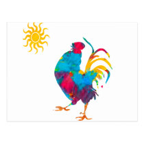 Rooster the King of the BarnYard Postcard