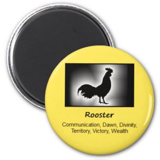 Rooster Totem Animal Spirit Meaning 2 Inch Round Magnet