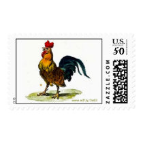 Rooster U.S. Postage Stamps